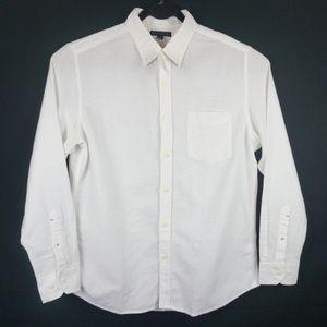 NWT Banana Republic White Linen Button Shirt Large